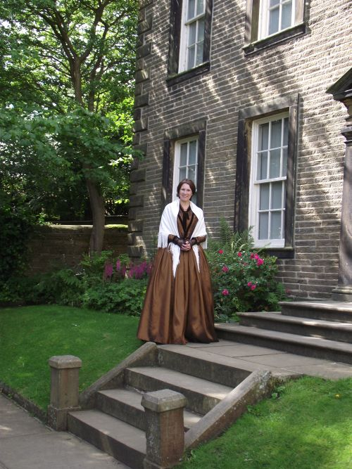 brown bronte gown parsonage
