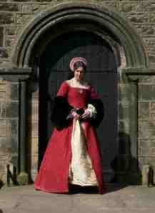 red-cotton-damask-gown