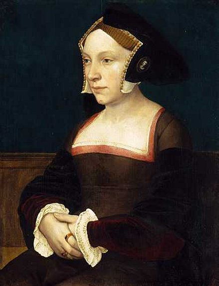 English_Lady_by_Hans_Holbein_the_Younger hood and brooch