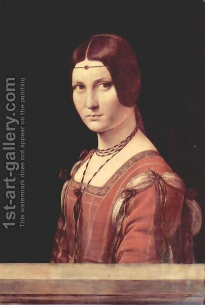 Portrait-Of-A-Lady-Called-La-Belle-Ferronniere-1490-95