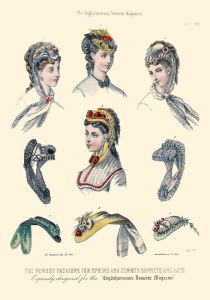 1869 maj - Englishwoman's Domestic Magazine, dam hattar